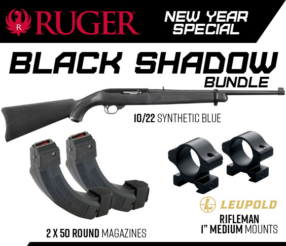 Ruger 1022 black shadow Semi-Auto .22  Rifles