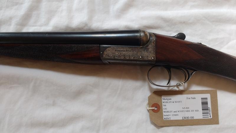 Webley / Webley & Scott 700 12 Bore/gauge  Side By Side