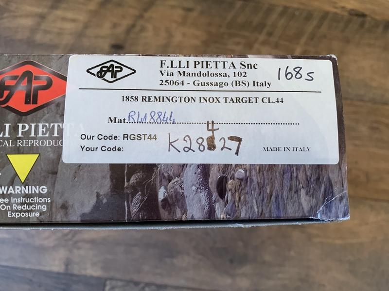 "Pietta 1858 Army Target Stainless 8\""   Muzzleloader"
