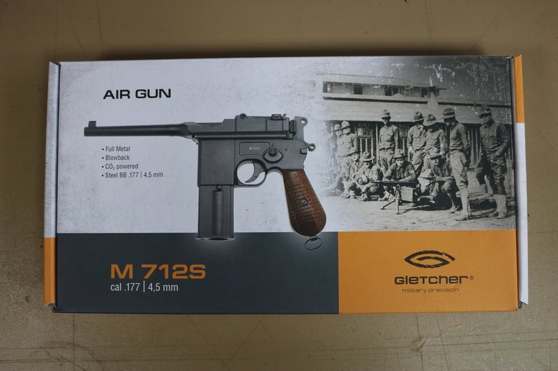 Gletcher M 712S Steel BB 4.5 mm  Air Pistols