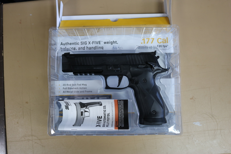 Sig Sauer X-Five Black (Or Silver) .177  Air Pistols