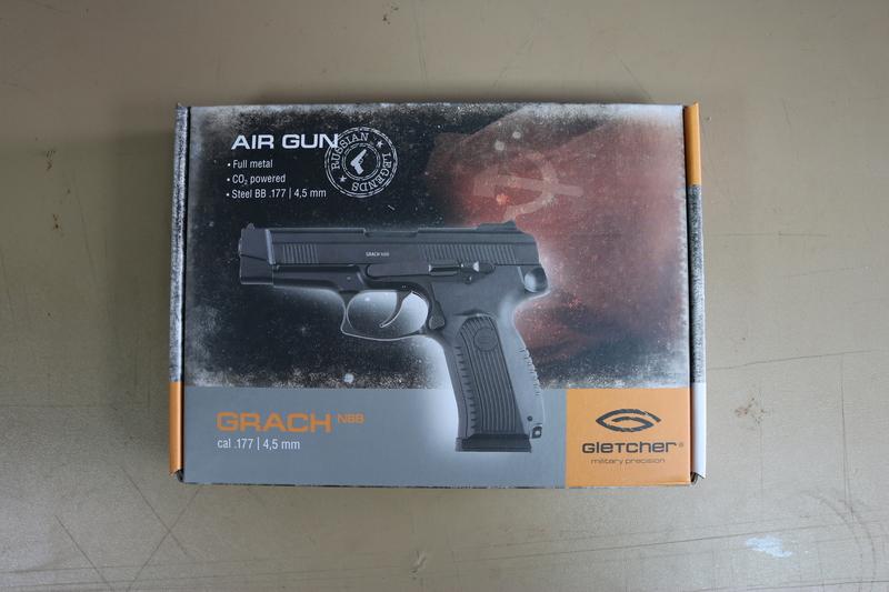Gletcher Grach NBB 4.5MM Steel BB .177  Air Pistols