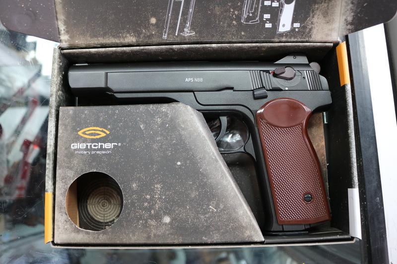 Gletcher APS NBB 4.5MM Steel BB .177  Air Pistols