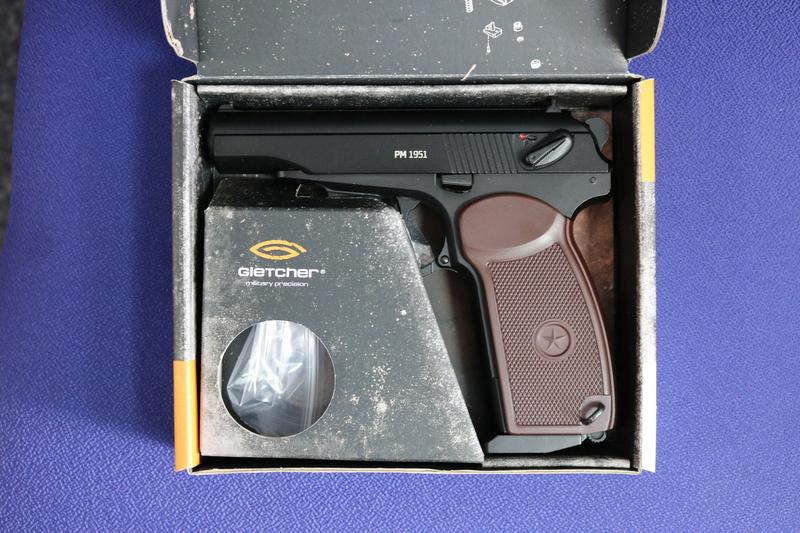 Gletcher PM 1951 4.5MM Steel BB .177  Air Pistols