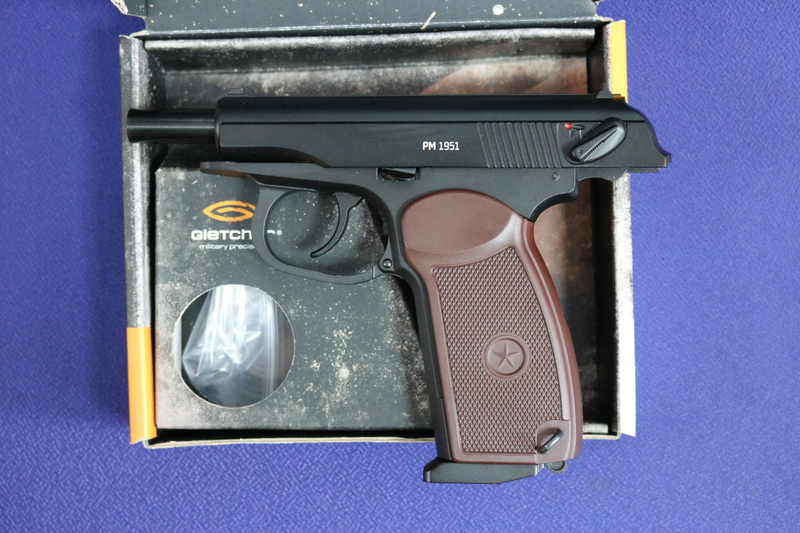 Gletcher PM 1951 4.5MM Steel BB .177  Air Pistols