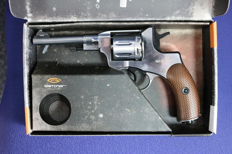 Gletcher NGT F Silver 4.5MM Steel BB .177  Air Pistols