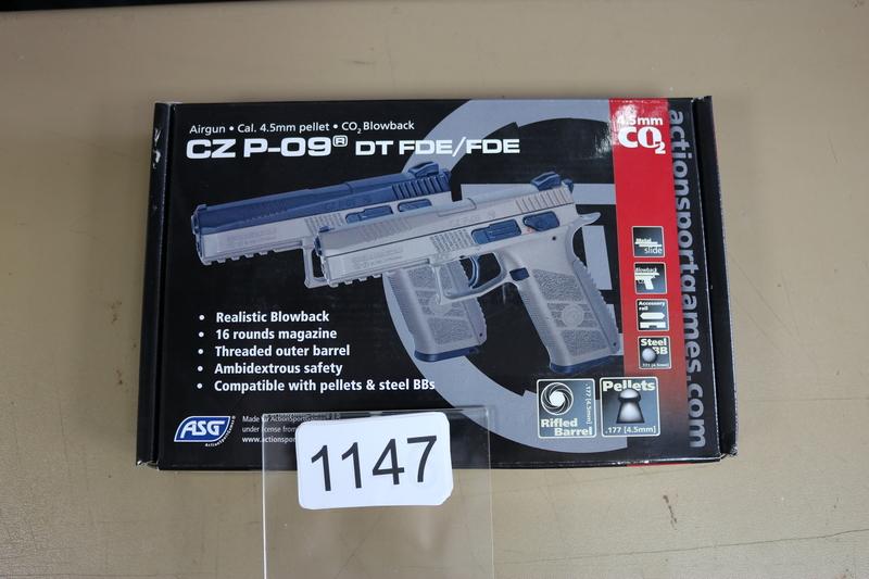 ASG CZ P-09 DT FDE .177  Air Pistols