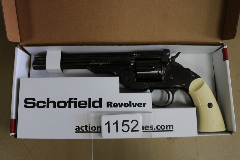 "Schofield 6"" Steel Grey 4.5MM BB 4.5 mm  Air Pistols"