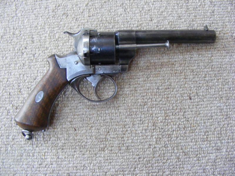 Lefaucheaux 12mm Pin Fire Revolver  12mm Pin Fire Cartridge Revolver