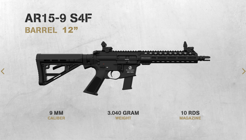 Schmeisser ar15-9 Straight Pull 9 mm  Rifles
